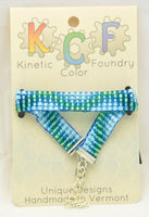 Ocean Blue Waves series; Beaded Loom Bracelets for Tactile Stimming while Looking Fancy - Kinetic Color Foundry - Bracelet