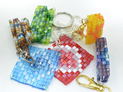 Cube Bead Fidget Squares - Pocket sized sensory stims for redirecting anxious energy - Kinetic Color Foundry - Fidgets