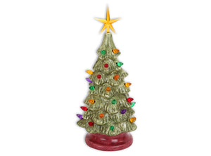 "11"" UNFINISHED Ceramic Christmas Tree Kit"