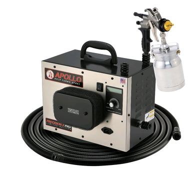 PRECISION‐5 PRO LE Turbine with 7700QT spray gun, 32' flexible air hose and acc