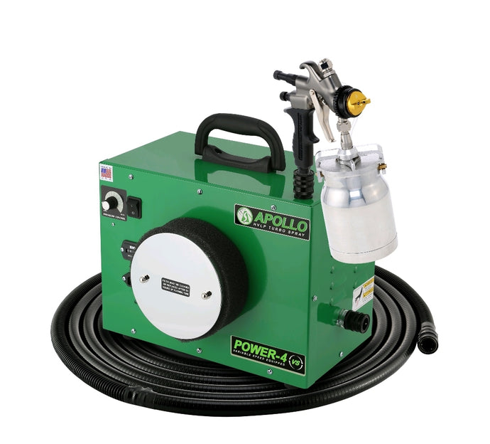 POWER‐4‐VS Turbine with 7700QT spray gun, 29' flexible air hose and accessories - 44 Marketplace