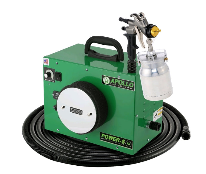 POWER‐5‐VS Turbine with 7700QT spray gun, 32' flexible air hose and accessories - 44 Marketplace