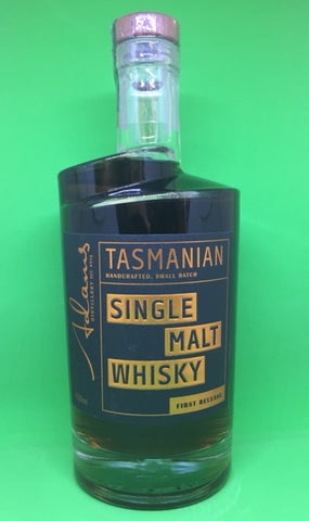 Adams First Release Tasmanian Single Malt Whisky - Historic