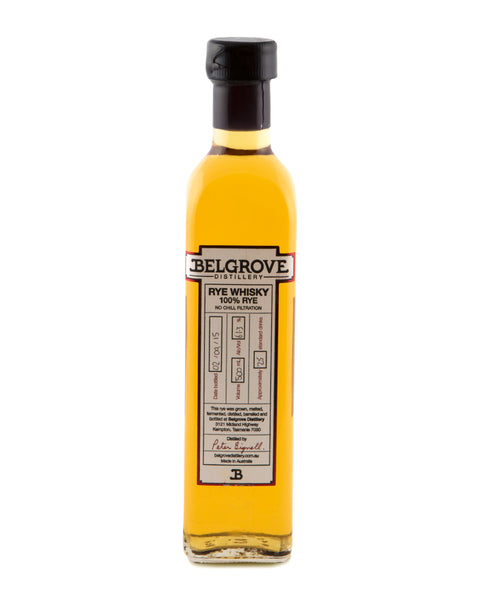 Belgrove Sherry Cask 100% Rye Whisky 2015 - Historic