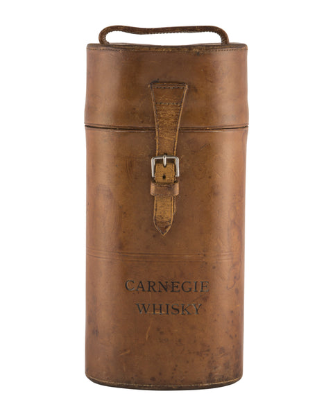 Carnegie leather hand-held whisky bottle carrier