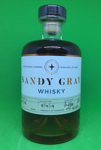 Sandy Gray Tasmanian Single Malt Whisky First Release