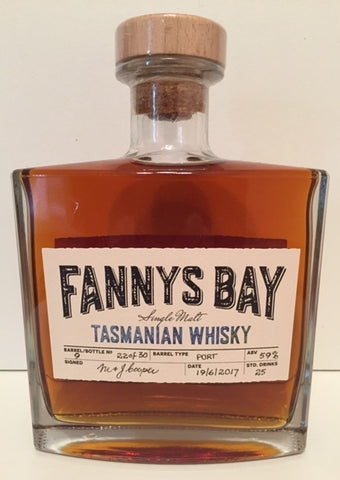 Fannys Bay Port Barrel No 9 Single Malt Whisky - Historic