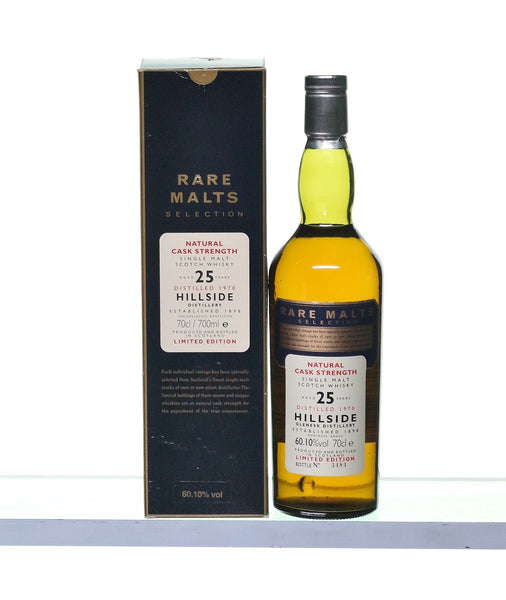 Hillside 1970 25 Years Old Single Highland Malt by Rare Malts