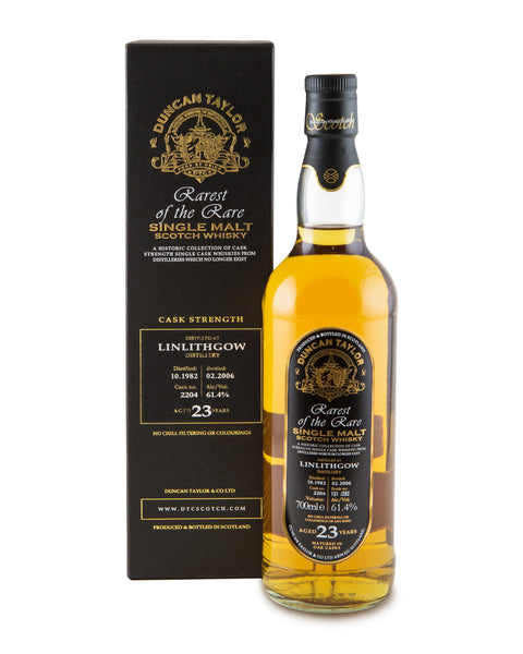 Linlithgow 1982 23 Years Old Cask No 2204 Single Lowland Malt Rarest of the Rare by Duncan Taylor