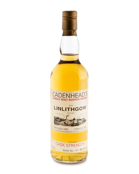 Linlithgow 1982 Cask No 2839 Cadenhead's Cask Strength Bottling