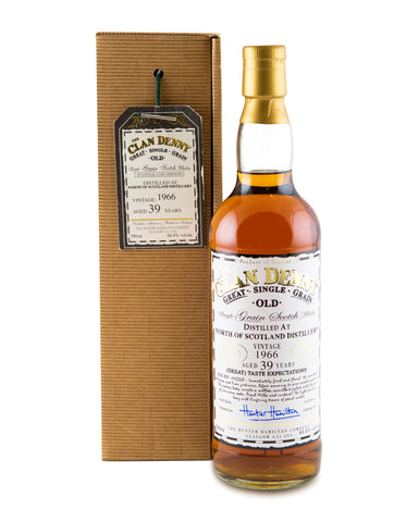 North of Scotland 1966 39 Years Old Single Grain Whisky by Clan Denny