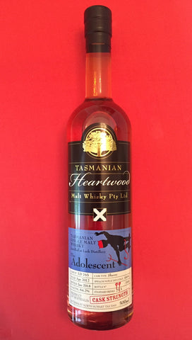 Heartwood Adolescent Lark ex-Sherry CaskStrength Tasmanian Vatted Malt Whisky - Historic