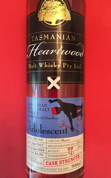 Heartwood The Adolescent Lark ex-Sherry Cask Strength Tasmanian Vatted Malt Whisky - Historic
