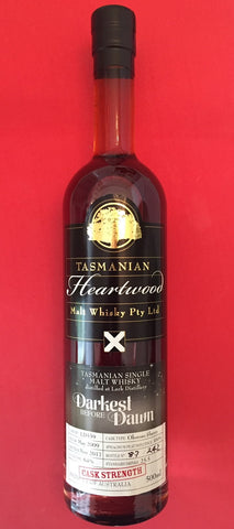 Heartwood Darkest Before Dawn Lark ex-Oloroso Sherry Cask Strength Tasmanian Malt Whisky – Historic