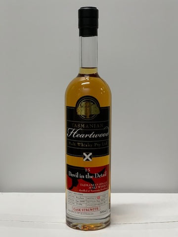 Heartwood Devil in the Detail Single Cask 15 Year Old Tasmanian Malt Whisky