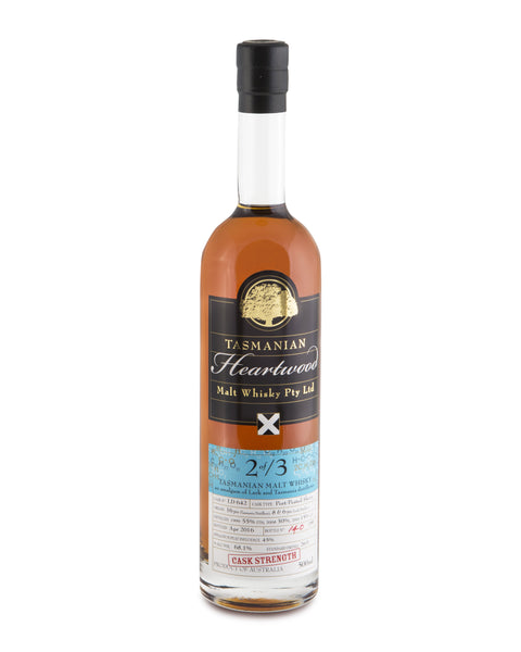 Heartwood 2 of /3 Cask Strength Tasmanian Vatted Malt Whisky - Historic