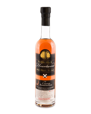 Heartwood Convict Resurrection 14 Years Old ex-Sullivans Cove Cask Strength Tasmanian Malt Whisky - Historic