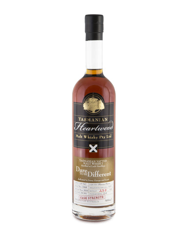 Heartwood Dare To Be Different ex-Lark Cask Strength Tasmanian Single Malt Whisky - Historic