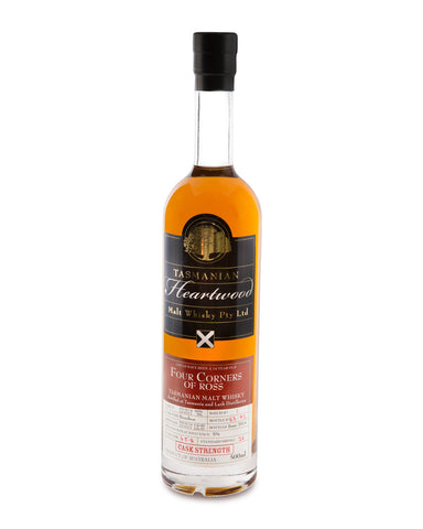 Heartwood Four Corners of Ross Cask Strength Tasmanian Malt Whisky (Batch 1) - Historic