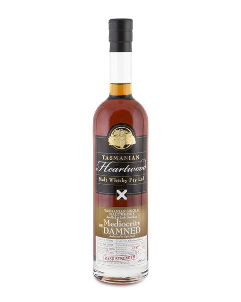 Heartwood Mediocrity Be Damned ex-Lark Cask Strength Tasmanian Single Malt Whisky - Historic