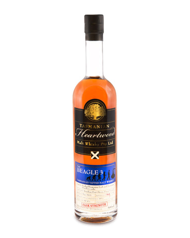 Heartwood The Beagle 3 ex-Lark Cask Strength Tasmanian Vatted Malt Whisky - Historic