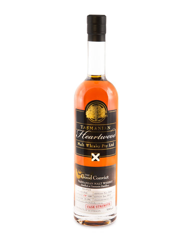 Heartwood The Good Convict 14 Year Old ex-Sullivans Cove Cask Strength Tasmanian Malt Whisky - Historic