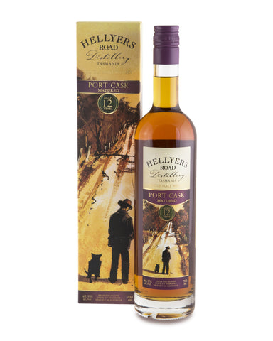 Hellyers Road Port Cask Matured Aged 12 Years Tasmanian Single Malt Whisky - Historic