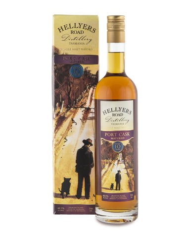 Hellyers Road Port Cask Matured Aged 10 Years Tasmanian Single Malt Whisky - Historic