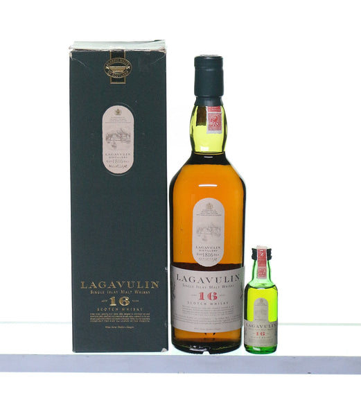 Lagavulin 16 Years Old by White Horse with matching miniature