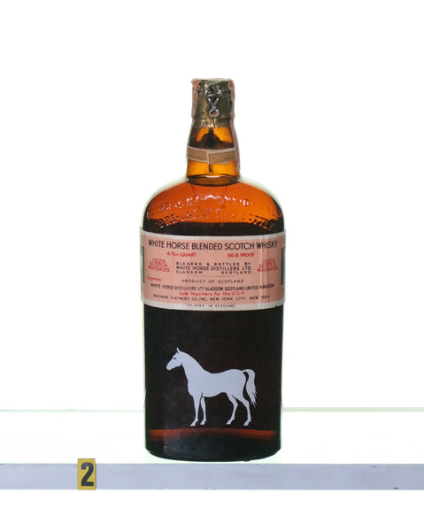 White Horse Cellar Flat Bottle Blended Scotch Whisky 1940s