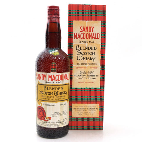 Sandy Macdonald Blended Scotch Whisky US Import 1950s with Original Box