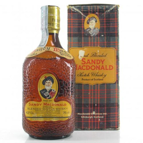 Sandy Macdonald Special Blended Scotch Whisky 1980s with box