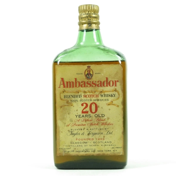 Ambassador 20 Years Old Blended Scotch Whisky 1950s