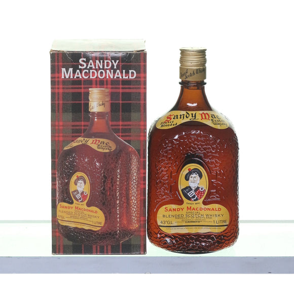 Sandy Macdonald Special Blended Scotch Whisky 1 litre 1980s