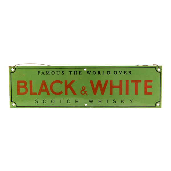 James Buchanan 'Black & White' Metal Bar Sign 1920s