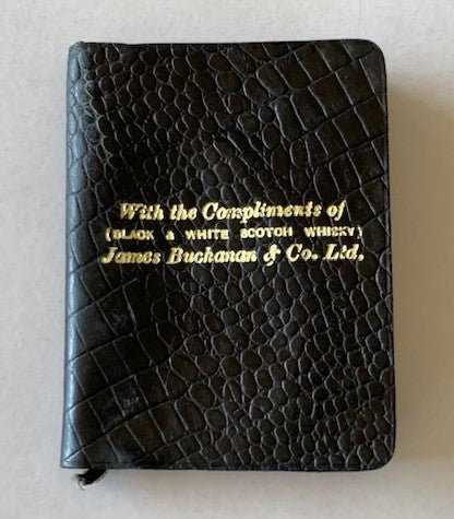 James Buchanan 'Black & White' 1936 Pocket Diary