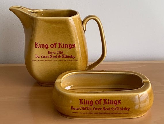 King of Kings Water Jug and Ashtray