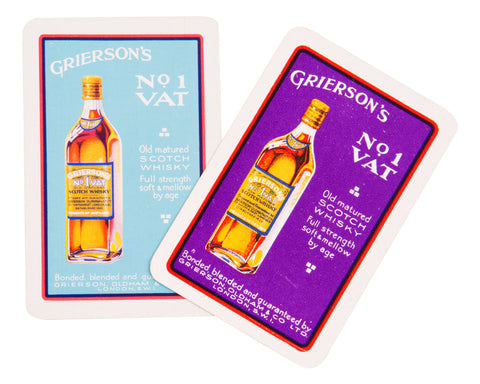 Grierson's No 1 Vat Scotch Whisky Playing Cards (2)