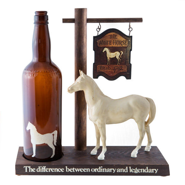 White Horse Back Bar Display 1940s