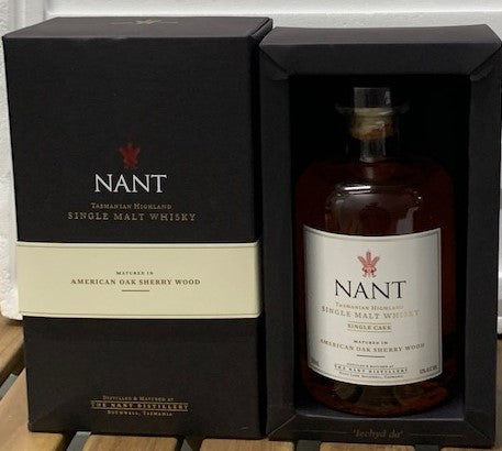 Nant 2014 American Oak Sherry Wood Single Cask Tasmanian Single Malt - Historic