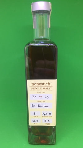 Nonesuch Cask 3 ex Bourbon Single Malt Whisky - Historic