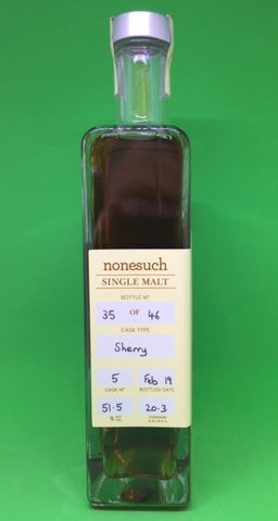 Nonesuch Cask 5 ex Sherry Single Malt Whisky - Historic