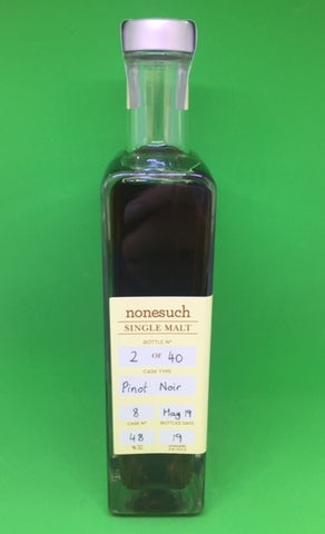 Nonesuch Cask 8 ex Pinot Noir Single Malt Whisky - Historic