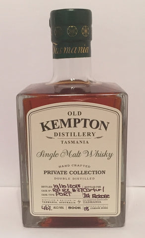 Old Kempton Private Collection Cask No RD 122 First Release ex-Port Cask Matured Tasmanian Single Malt Whisky Special Bottling #4 by MyWhiskyJourneys - Current