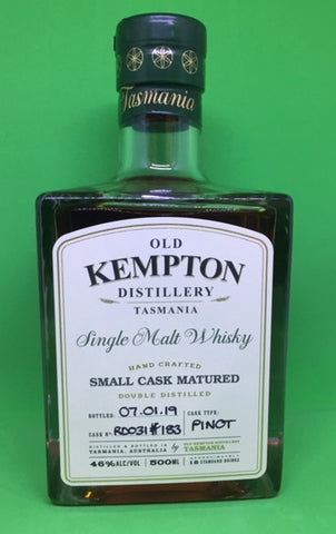 Old Kempton Cask No RD 031 Pinot Cask Matured Tasmanian Single Malt Whisky- Historic