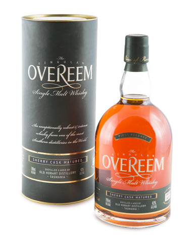 Overeem 43% Sherry Cask Matured First Release Tasmanian Single Malt Whisky OHD-002 - Historic