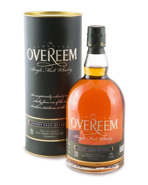 Overeem 2014 Sherry Cask Matured 43% Tasmanian Single Malt Whisky OHD-030 - Historic