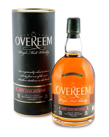Overeem 2013 Port Cask Matured 43% First Release Tasmanian Single Malt Whisky OHD-009 - Historic