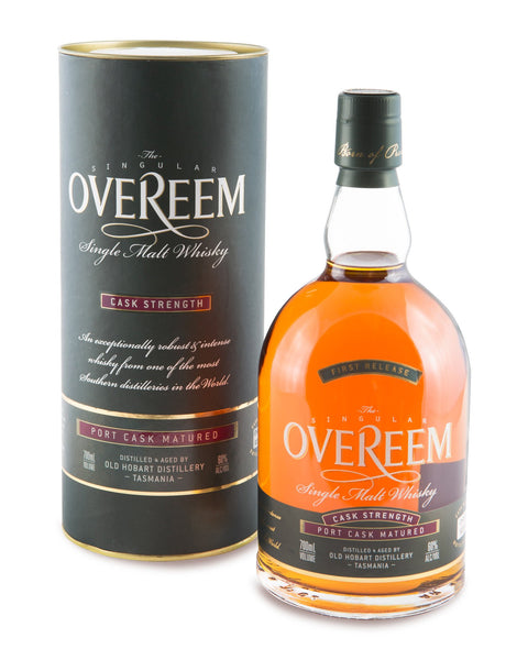 Overeem 2013 Cask Strength Port Cask Matured 60% First Release Tasmanian Single Malt Whisky OHD-008 - Historic