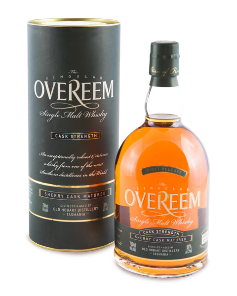 Overeem 2013 Cask Strength Sherry Cask Matured 60% First Release Tasmanian Single Malt Whisky OHD-001 - Historic